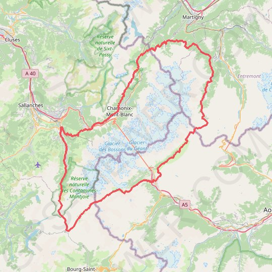 Ultra-Trail du Mont Blanc (UTMB) GPS track, route, trail