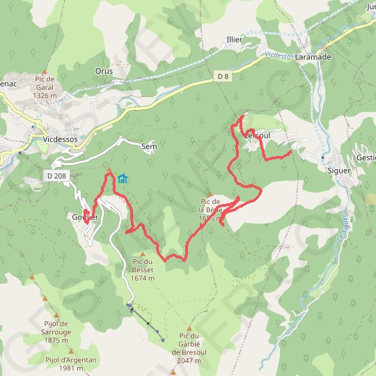 Siguer - Goulier GPS track, route, trail